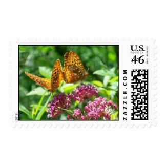 Monarchs on Milkweed Stamps