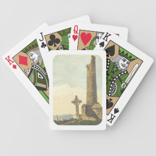Monasterboice Church Tower Co Louth Ireland 1833 Bicycle Playing Cards at Zazzle