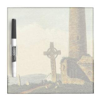 Monasterboice Church Tower Co Louth Ireland 1833 Dry Erase Whiteboard