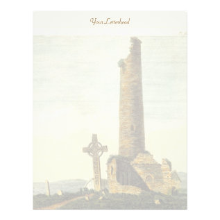 Monasterboice Church Tower Co Louth Ireland 1833 Letterhead at Zazzle