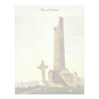 Monasterboice Church Tower Co Louth Ireland 1833 Letterhead