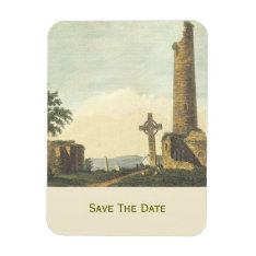 Monasterboice Church Tower Co Louth Ireland 1833 Magnet at Zazzle