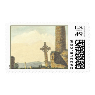 Monasterboice Church Tower Co Louth Ireland 1833 Stamp