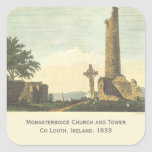 Monasterboice Church Tower Co Louth Ireland 1833 Square Sticker at Zazzle