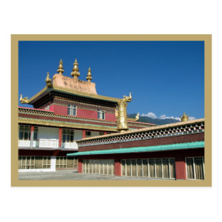 Monasterio budista tibetano postal