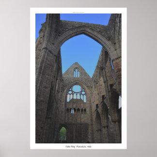 Monasterio cisterciense País de Gales de la abadía Póster