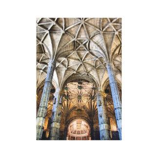 Monasterio de Jeronimos en Lisboa Portugal Lona Estirada Galerias