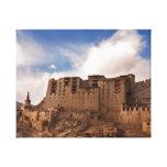 Monasterio de Leh que asoma sobre la ciudad mediev Impresión En Lona