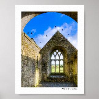 Monasterio de Ross Errilly - ruinas del irlandés - Póster