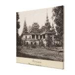 Monasterio de Teik Kyaung, isla del dedo del pie d Lienzo Envuelto Para Galerías