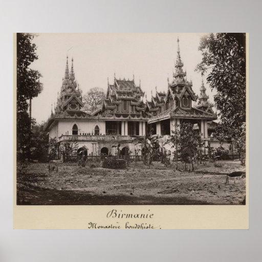 Monasterio de Teik Kyaung, isla del dedo del pie d Impresiones