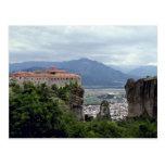 Monasterio, el gran Meteora, Grecia Postal