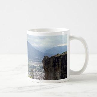 Monasterio, el gran Meteora, Grecia Tazas De Café