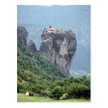 Monasterio en Meteora, Grecia Europa Tarjeta Postal