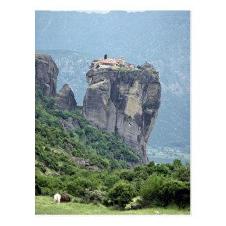 Monasterio en Meteora Grecia Europa Tarjeta Postal