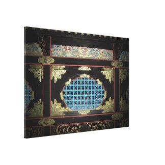Monasterio japonés impresión en lona estirada
