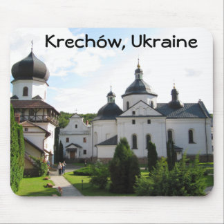 Monasterio ortodoxo en Krechow cojín de ratón de Tapetes De Ratones