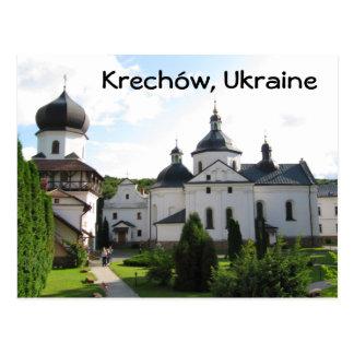 Monasterio ortodoxo en Krechow postal de Ucrania