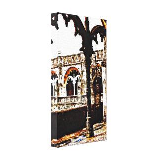 Monasterio portugués - DOS Jeronimos de Mosteiro Lona Envuelta Para Galerías