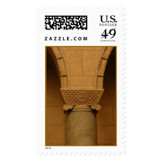 Monastery column detail postage stamp