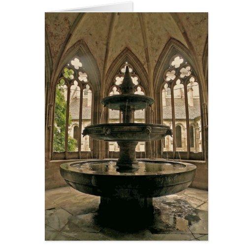 Monastery Fountain Note Card