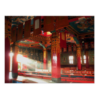 Monastery in Radiant Sunlight Posters
