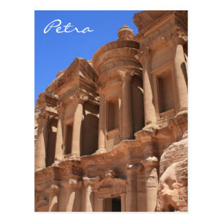 monastery petra angle postcard