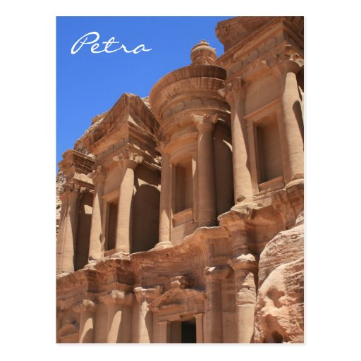 monastery petra angle post cards
