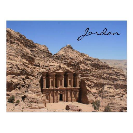 monastery petra jordan postcard
