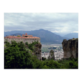 Monastery, The Great Meteora, Greece Post Card