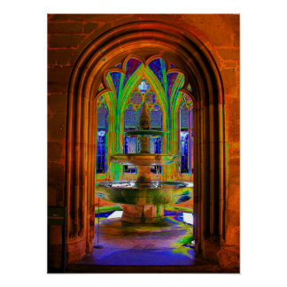 Monastery well in the Maulbronn Abbey, photo art, Posters