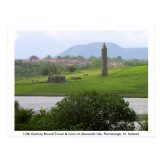 Monastic Tower & Ruins, Devenish Island Postcard