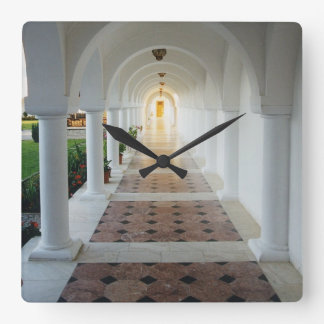 Monastic Tranquility Square Wall Clock