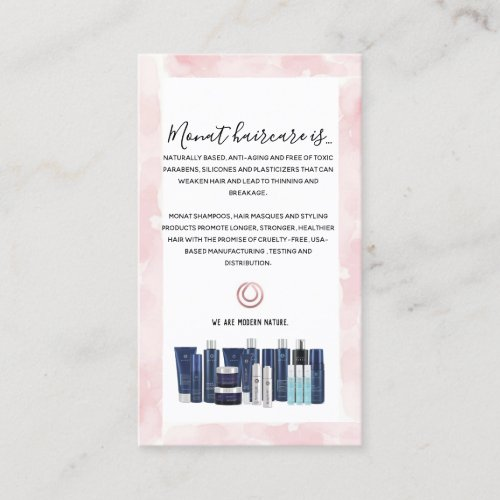 Monat Wash Instructions Business Card