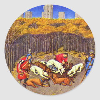 Monatsbild December (Boar Hunt) By Barthélemy D' E Sticker