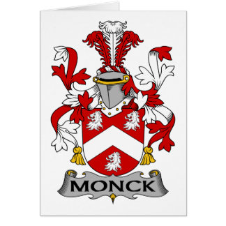 Monck Family Crest Card