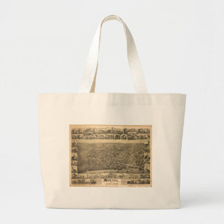 Moncton New Brunswick Canada (1888) Large Tote Bag