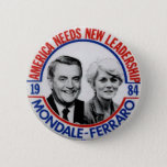 "Mondale-Ferraro jugate - Button<br><div class=""desc"">Walter Frederick Mondale (born January 5, 1928) is an American politician and member of the Democratic-Farmer-Labor Party. He was the 42nd Vice President of the United States (1977–81) under President Jimmy Carter, a two-term United States Senator from Minnesota, and the Democratic Party nominee for president in 1984. Later, during the...</div>"