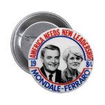 Mondale-Ferraro jugate - Button