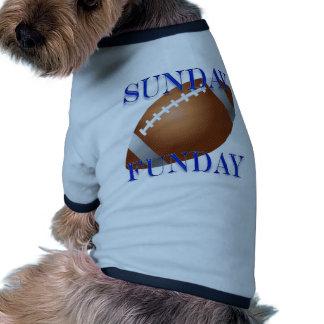 Monday and Sunday night Football Pet Tshirt