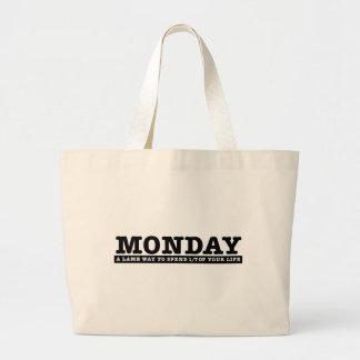 Monday Jumbo Tote Bag