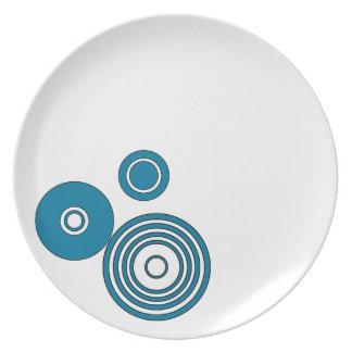 Monday Blues Melamine Dinner Plate