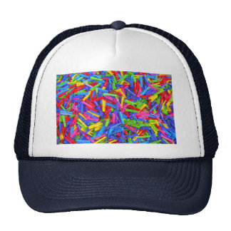 Monday Clothing Pins Multicolor Home Texture Trucker Hat