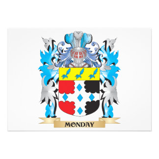 Monday Coat of Arms - Family Crest Cards