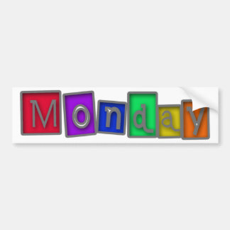 Monday colorful design! bumper sticker