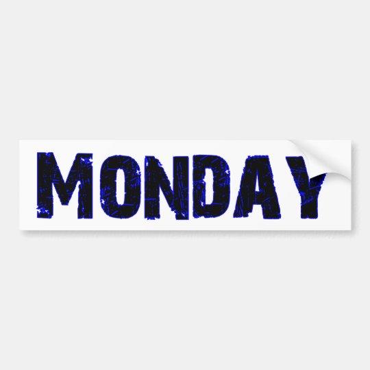 Monday Day of the Week Merchandise Bumper Sticker