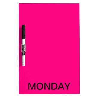 Monday Dry Erase Board Calendar Tools