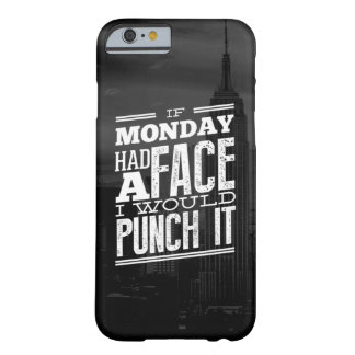 Monday Face Black and White Skyline Typography Barely There iPhone 6 Case