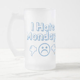 Monday Frosted Glass Beer Mug