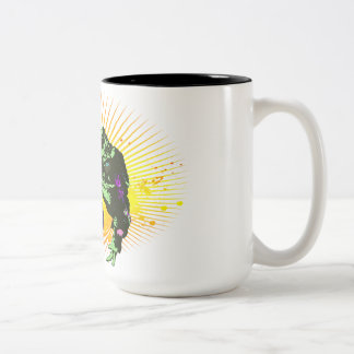 Monday is a toad. Two-Tone coffee mug